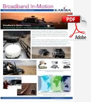 Kariba Systems Broadband In-Motion Brochure